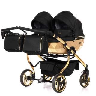 Twin stroller - Junama Mirror Twin Satin black